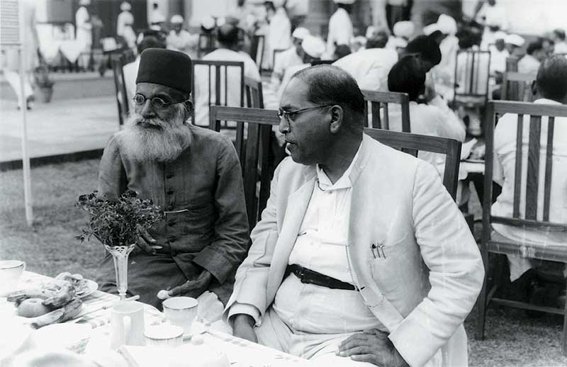 Ambedkar_and_Maulana_Hasrat_Mohani_at_Sardar_Patel's_reception
