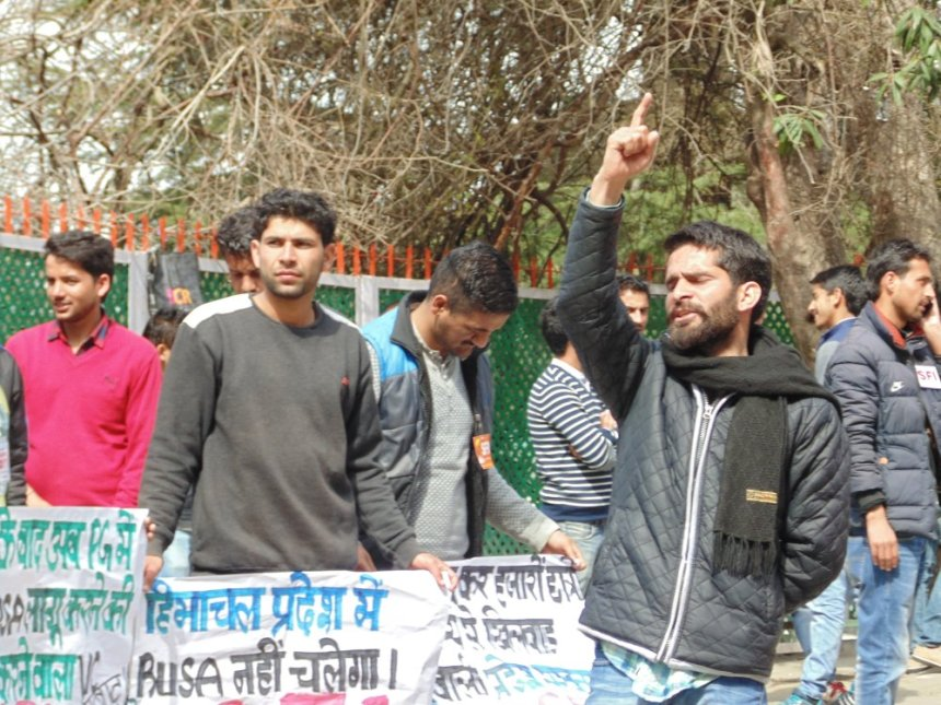 hp-university-student-protest-against-rusa-2