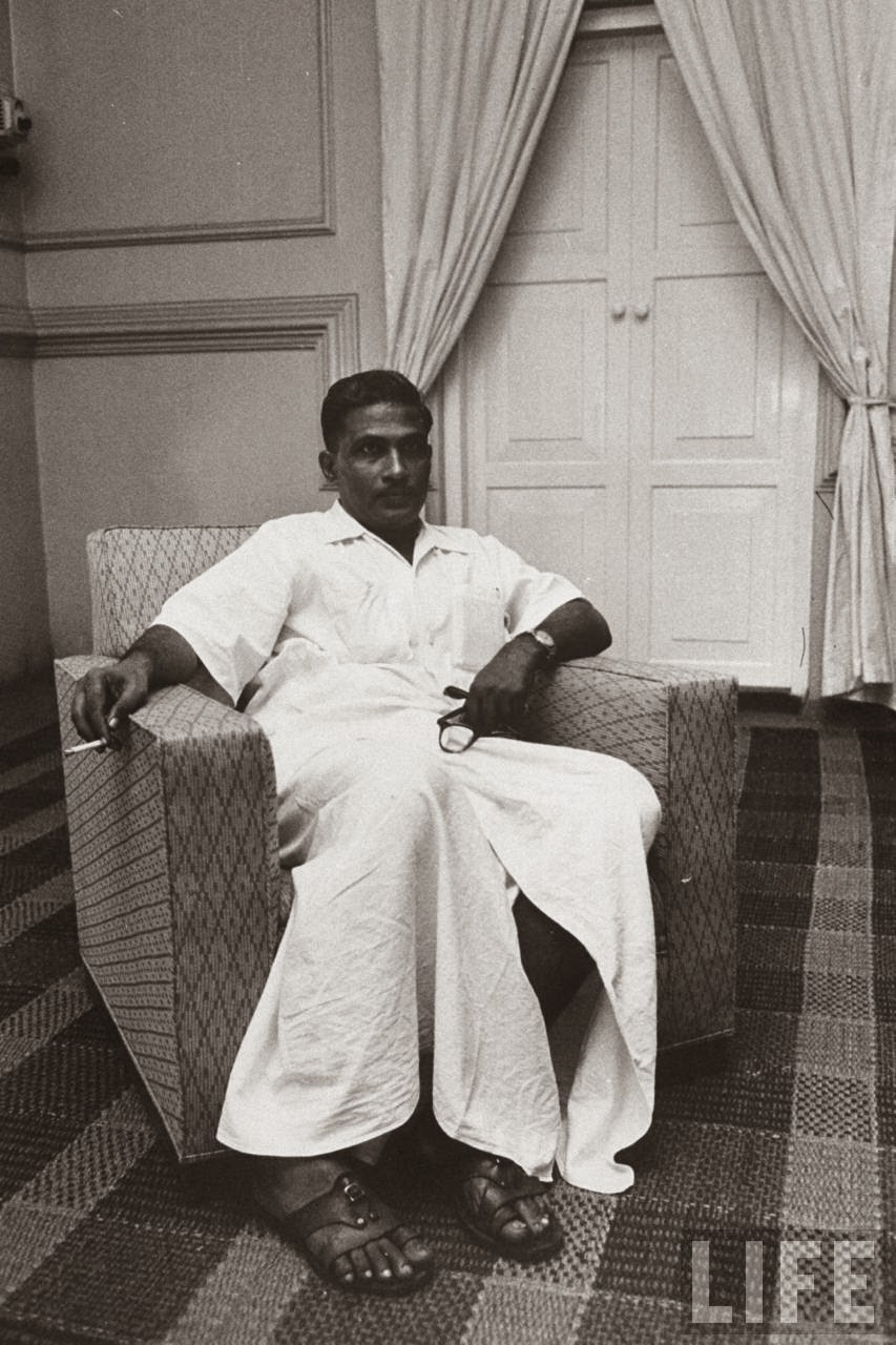 Indian COmmunist Leader K. Damodaran - Kerala, 1958